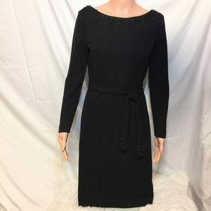 Vintage Little Black Dress with Matching Belt